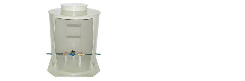 Műanyag vízmérő aknák